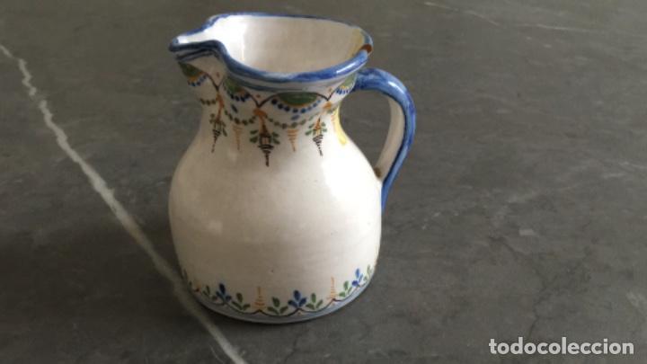 ANTIGUA JARRA DE TALAVERA, RUIZ DE LUNA. CON MARCAS EN LA BASE (Antigüedades - Porcelanas y Cerámicas - Talavera)