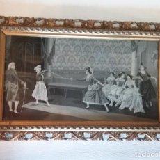 Antigüedades: ANTIGUO TAPIZ BORDADO SEDA ORIGINAL ESCENA TAPICERIA NEYRET FRERES SIGLO XIX. Lote 196480058