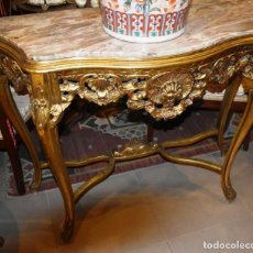 Antigüedades: MUY BONITA CONSOLA ANTIGUA DE ORO FINO. Lote 196481867