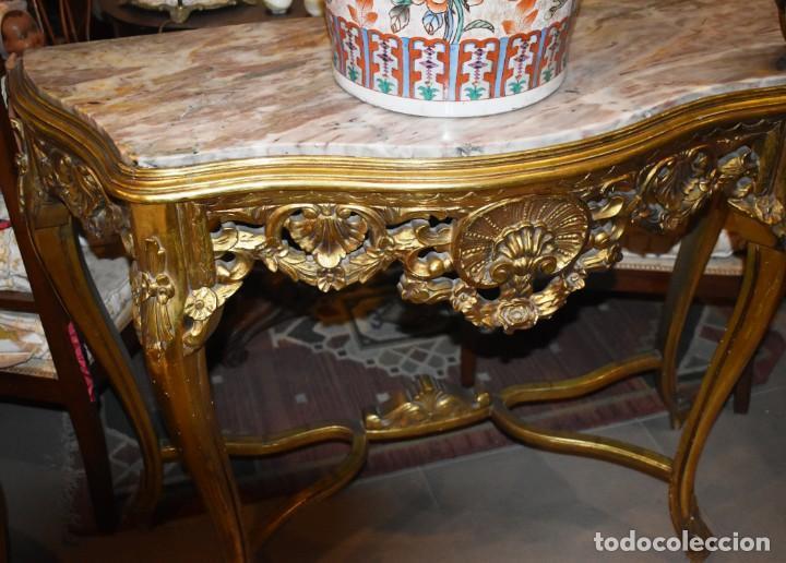 Antigüedades: MUY BONITA CONSOLA ANTIGUA DE ORO FINO - Foto 3 - 196481867