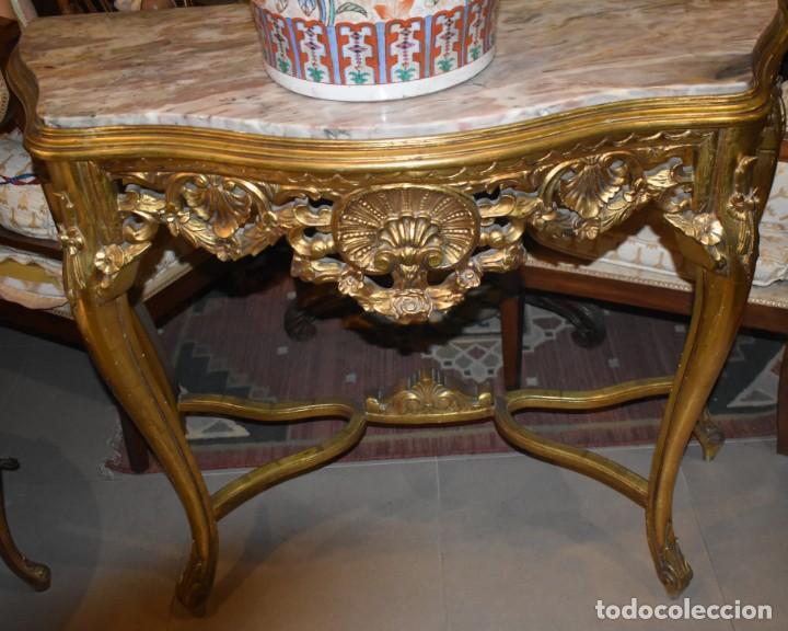 Antigüedades: MUY BONITA CONSOLA ANTIGUA DE ORO FINO - Foto 4 - 196481867