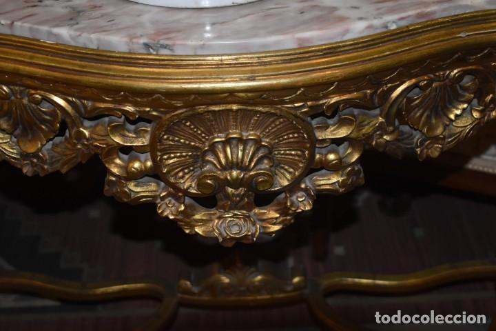 Antigüedades: MUY BONITA CONSOLA ANTIGUA DE ORO FINO - Foto 6 - 196481867