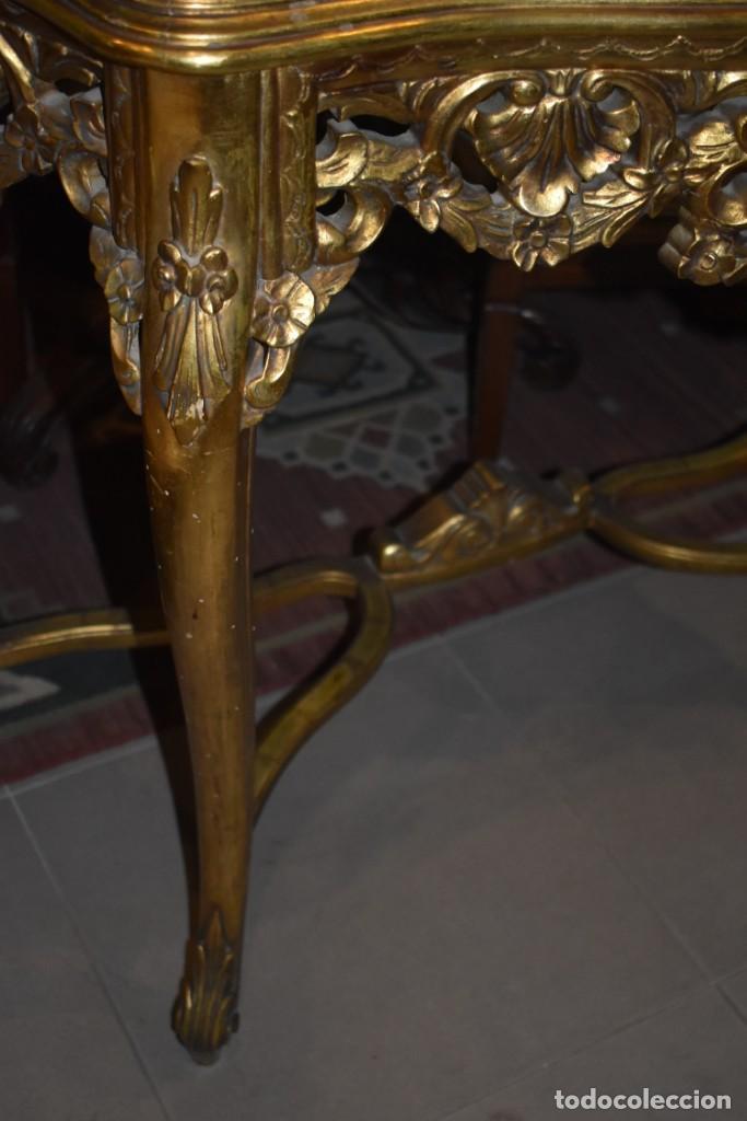 Antigüedades: MUY BONITA CONSOLA ANTIGUA DE ORO FINO - Foto 8 - 196481867