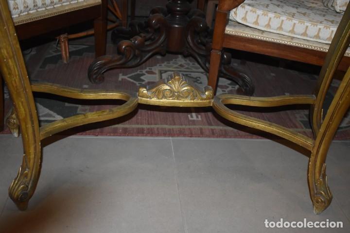 Antigüedades: MUY BONITA CONSOLA ANTIGUA DE ORO FINO - Foto 10 - 196481867
