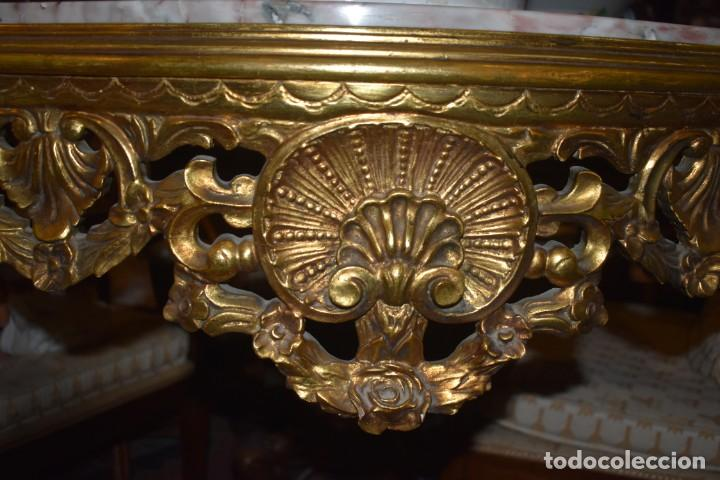 Antigüedades: MUY BONITA CONSOLA ANTIGUA DE ORO FINO - Foto 11 - 196481867