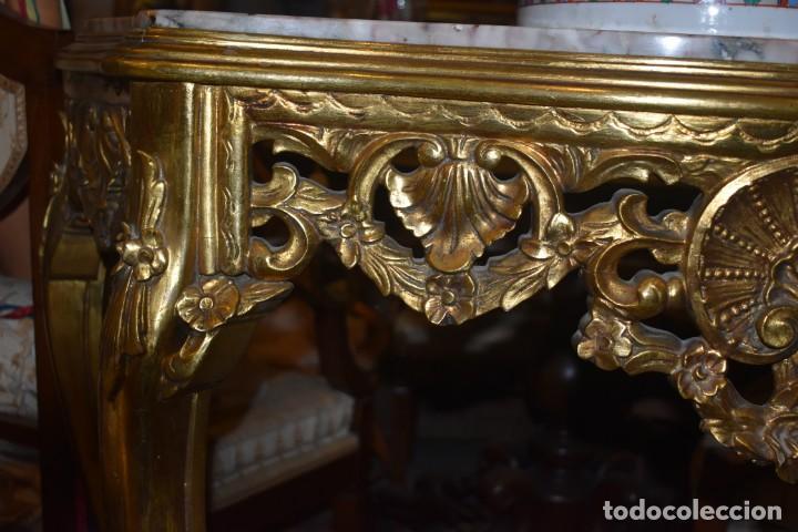Antigüedades: MUY BONITA CONSOLA ANTIGUA DE ORO FINO - Foto 12 - 196481867