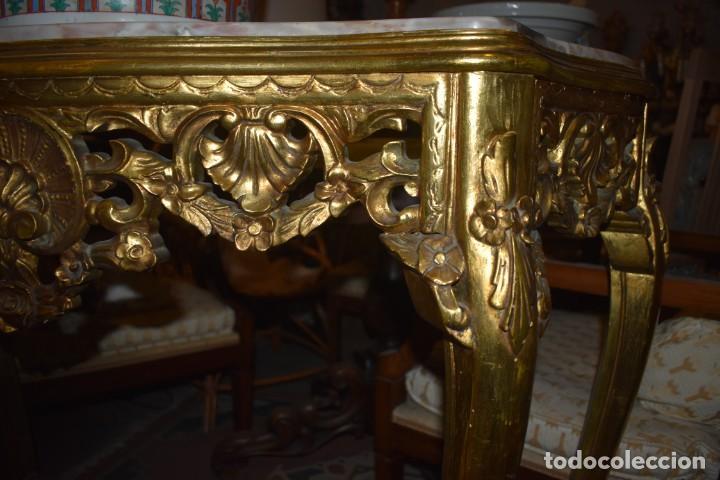 Antigüedades: MUY BONITA CONSOLA ANTIGUA DE ORO FINO - Foto 13 - 196481867