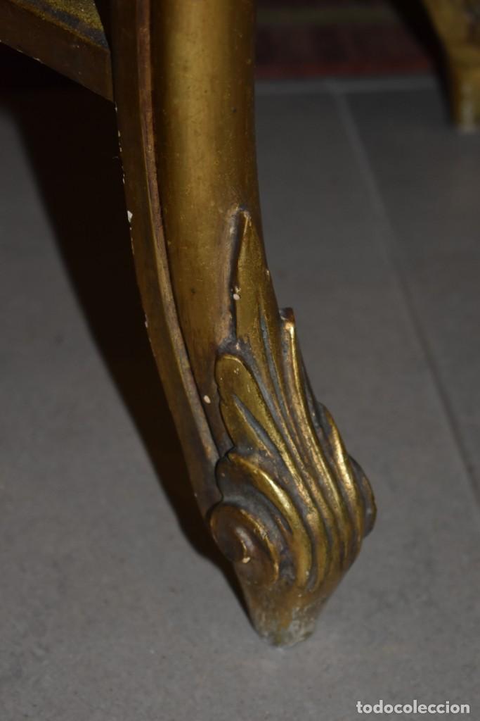 Antigüedades: MUY BONITA CONSOLA ANTIGUA DE ORO FINO - Foto 14 - 196481867
