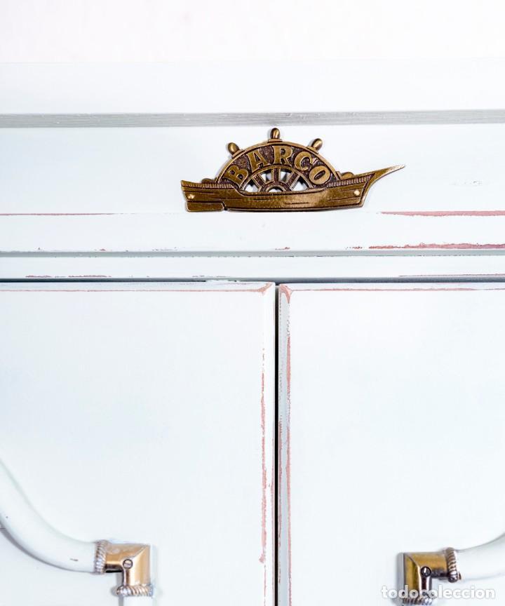 Antigüedades: Armario Vintage De Barco Restaurado Jetee - Foto 6 - 196491345