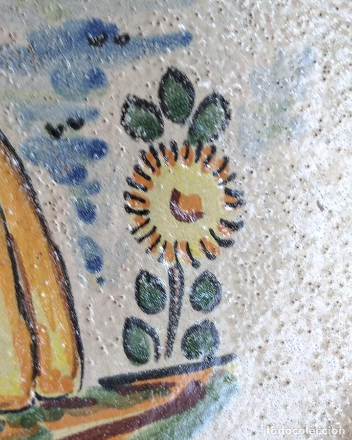 Antigüedades: ANTIGUO PLATO DE CERÁMICA DE PUENTE ARZOBISPO - Foto 4 - 196502213