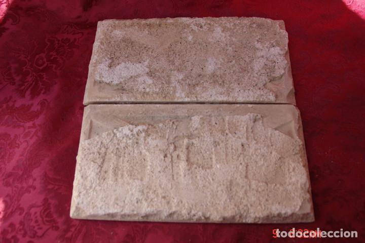 Antigüedades: 2 ANTIGUOS AZULEJOS DE TRIANA- SEVILLA. CERAMICA RAMOS REJANO - Foto 3 - 249174970