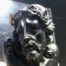 Antigüedades: BUSTO DE CRISTO EN BASE DE METACRILATO. Lote 196506240