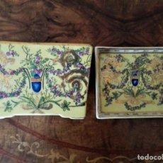 Antigüedades: PORCELANA VIDRIADA Y PINTADA MANO CRISTINE CANO BY NELSON. Lote 196507503