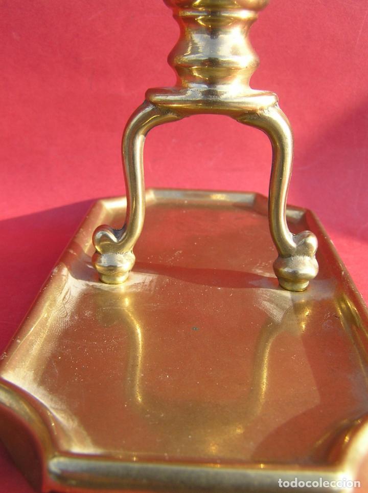 Antigüedades: Candelero de escritorio. Réplica fiel de un diseño del siglo XVIII. - Foto 5 - 196517336