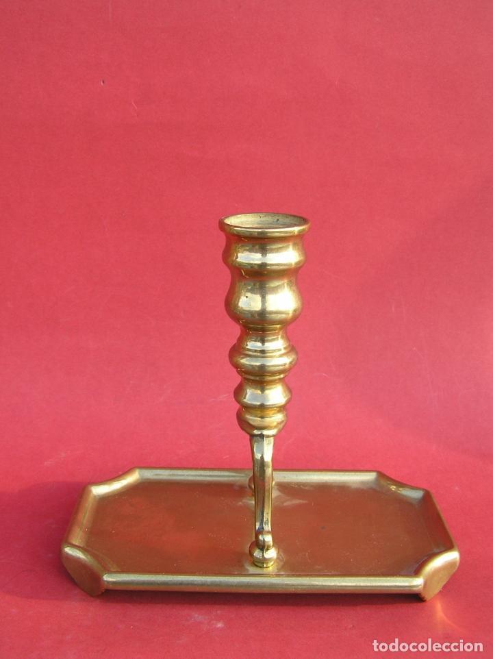 Antigüedades: Candelero de escritorio. Réplica fiel de un diseño del siglo XVIII. - Foto 6 - 196517336