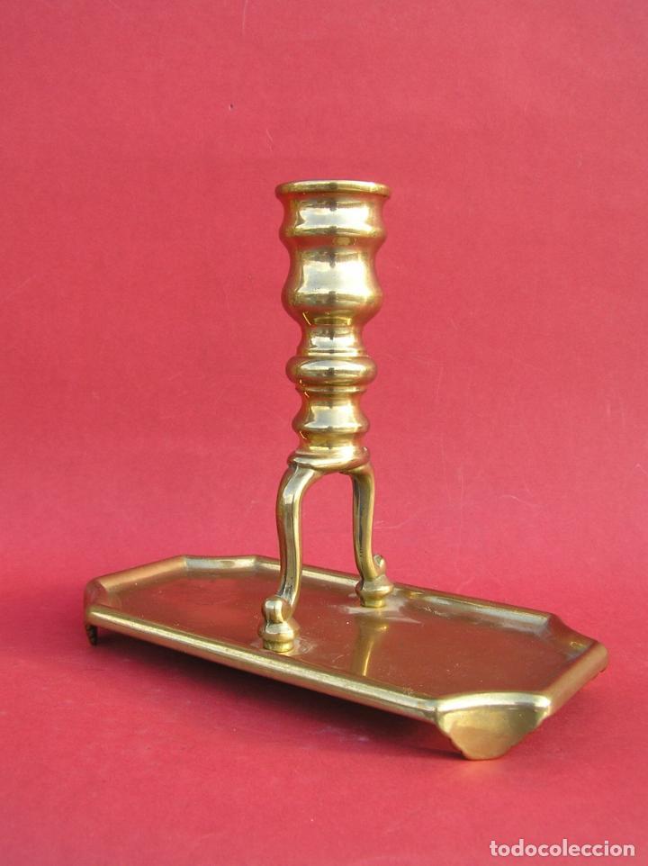 Antigüedades: Candelero de escritorio. Réplica fiel de un diseño del siglo XVIII. - Foto 7 - 196517336