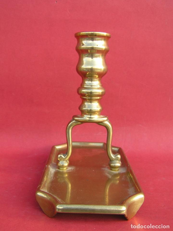 Antigüedades: Candelero de escritorio. Réplica fiel de un diseño del siglo XVIII. - Foto 8 - 196517336
