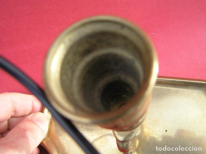 Antigüedades: Candelero de escritorio. Réplica fiel de un diseño del siglo XVIII. - Foto 12 - 196517336