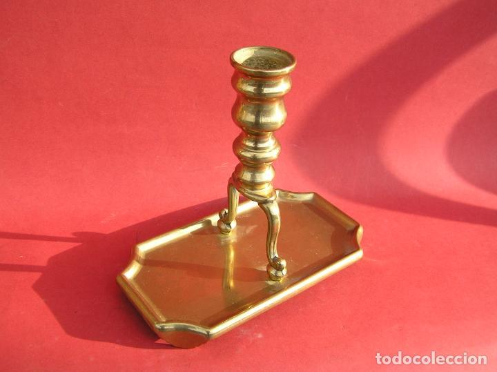 Antigüedades: Candelero de escritorio. Réplica fiel de un diseño del siglo XVIII. - Foto 15 - 196517336