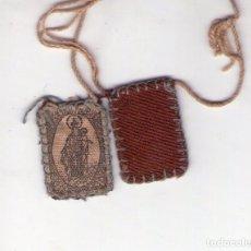 Antigüedades: ANTIGUO ESCAPULARIO DE TELA.. Lote 196537486