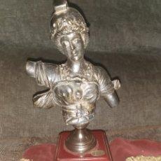 Antigüedades: BUSTO DEL GIRALDILLO DE BRONCE. ARTESANÍA BRASS. Lote 196574680