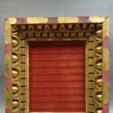 Antigüedades: MARCO DE MADERA DE ROBLE CON PAN DE ORO. Lote 196590415