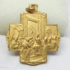 Antigüedades: ANTIGUA MEDALLA RELIGIOSA DE ROMA, AÑO SANTO 1950 - MEDIDA 3 CM.. Lote 196592420