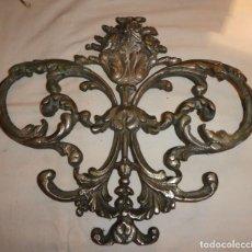 Antigüedades: ORNAMENTO EN BRONCE NIQUELADO. Lote 196647582