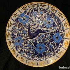 Antigüedades: ESPECTACULAR ANTIGUO PLATO GRIEGO DE CERAMICA. MANOYSAKIS KERAMIK. 24CMS DIAMETRO. Lote 196651812