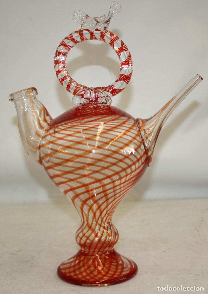 BOTIJO EN CRISTAL DE MANUFACTURA CATALANA. VIDRIO (Antigüedades - Porcelanas y Cerámicas - Catalana)
