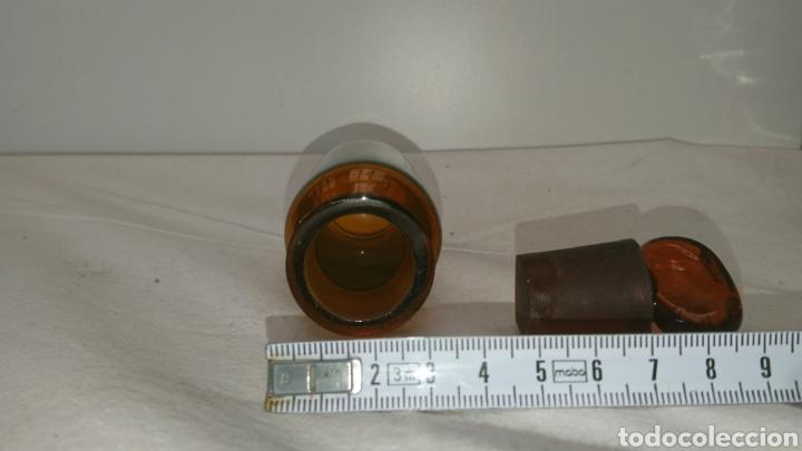 Antigüedades: botella farmacéutica muy antigua...11cm x 35cm. Medidas en el interior ver fotos. - Foto 11 - 196672955