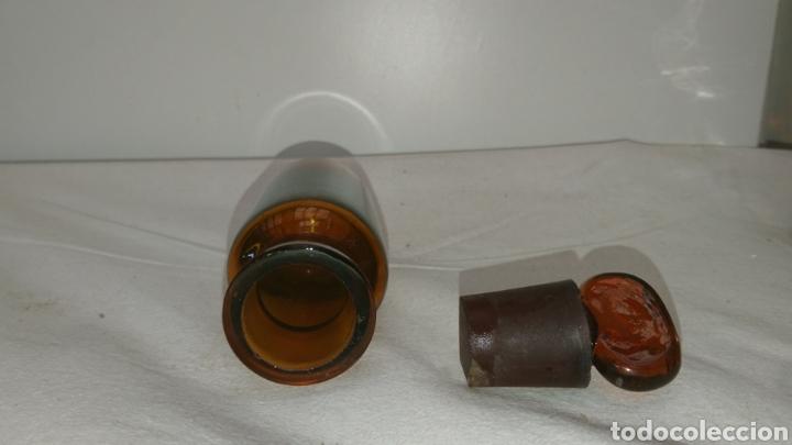 Antigüedades: botella farmacéutica muy antigua...11cm x 35cm. Medidas en el interior ver fotos. - Foto 4 - 196672955