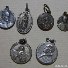 Oggetti Antichi: LOTE DE MEDALLAS RELIGIOSAS CON RELIQUIAS 6 MEDALLAS. Lote 210721955
