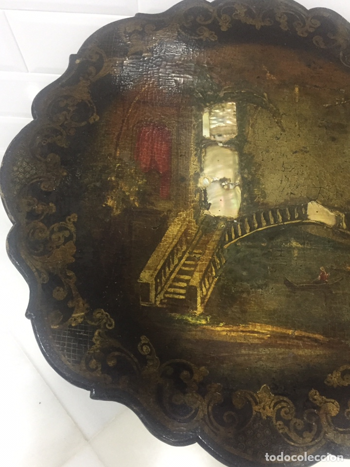 Antigüedades: ANTIGUA MESA VELADOR ESTILO ISABELINO FINALES DEL SIGLO XVIII - Foto 5 - 162466446