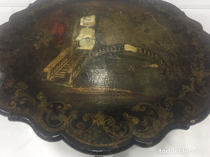 Antigüedades: ANTIGUA MESA VELADOR ESTILO ISABELINO FINALES DEL SIGLO XVIII - Foto 8 - 162466446