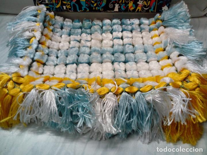 Antigüedades: bonito cubre o tapete de manufacturas cañamas - 60x40 cm - Foto 2 - 196754188