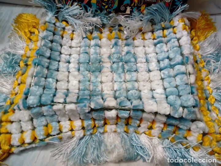 Antigüedades: bonito cubre o tapete de manufacturas cañamas - 60x40 cm - Foto 3 - 196754188