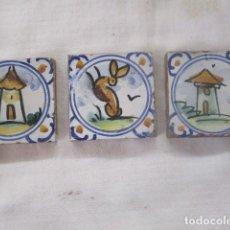 Antigüedades: AZULEJOS OLAMBRILLAS MENSAQUE. Lote 196762296