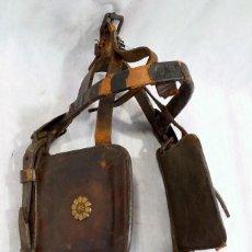 Antigüedades: CABEZADA DE CABALLO ANTIGUA CON ANTEOJERAS. Lote 196763341
