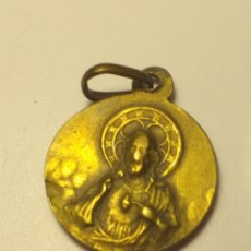 Antigüedades: MEDALLA SIGLO XIX - DORADA COR JESU. Lote 196768431