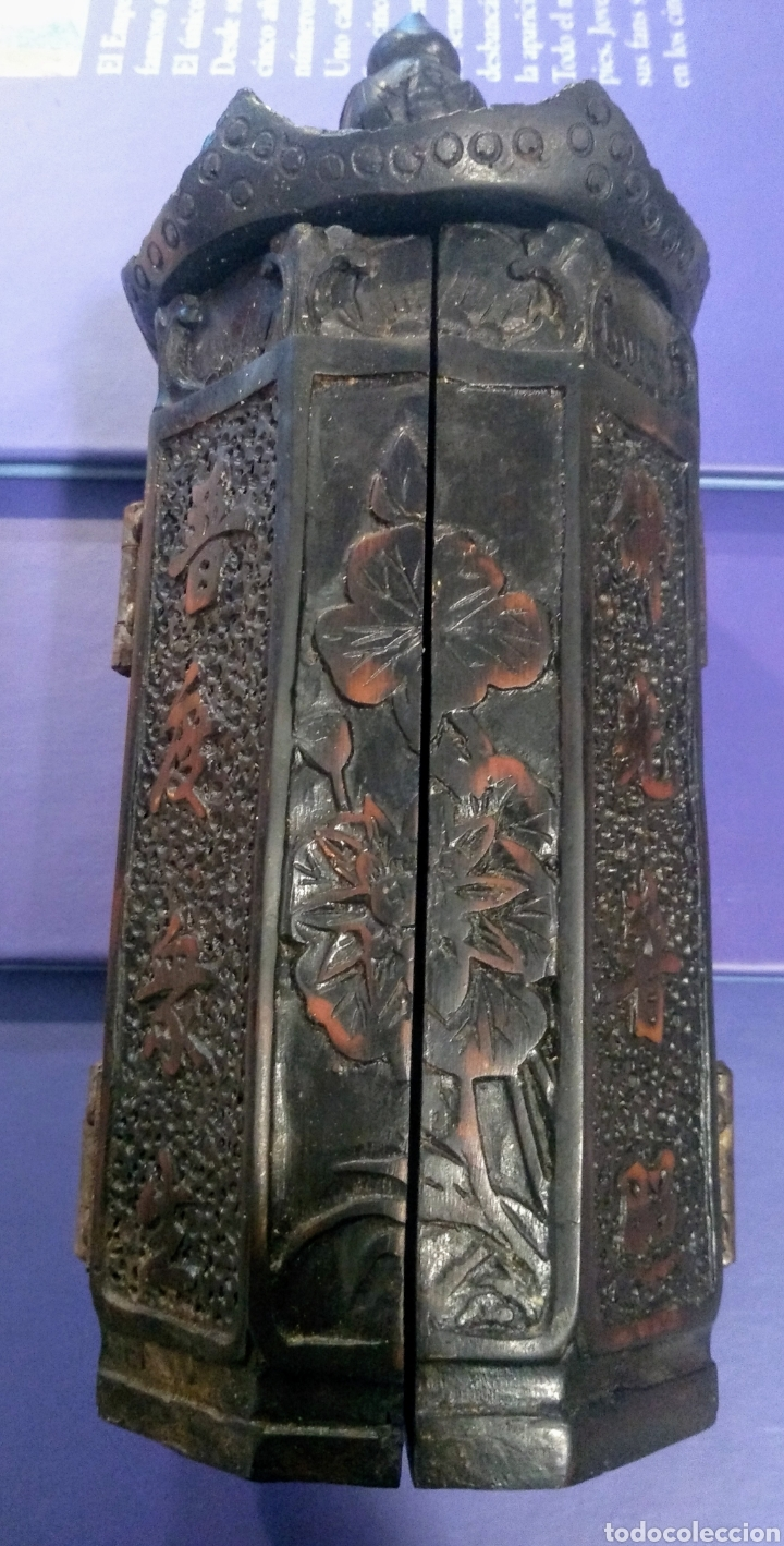 Antigüedades: Tríptico Altar Budista Plegable Tibetano - Foto 5 - 196786800