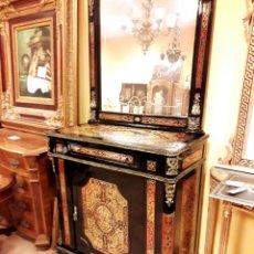 Antigüedades: CONSOLA ESTILO BOULLÉ. Lote 196788438