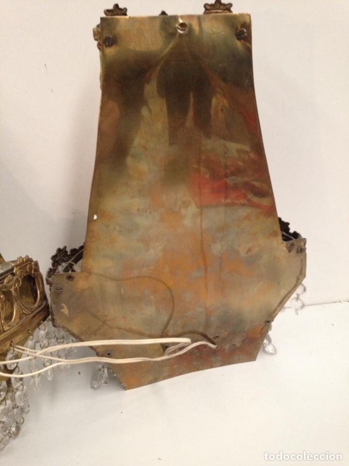 Antigüedades: Pareja de apliques antiguo modernista - Foto 3 - 196806340