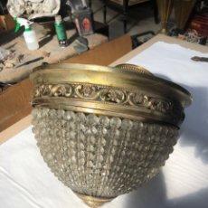 Antigüedades: LAMPARA DE CESTA. Lote 196836853