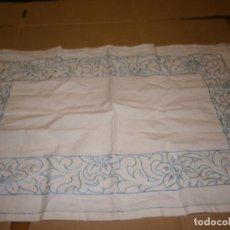 Antiguidades: TAPETE BORDADO 55 X 35 CM. Lote 196901081
