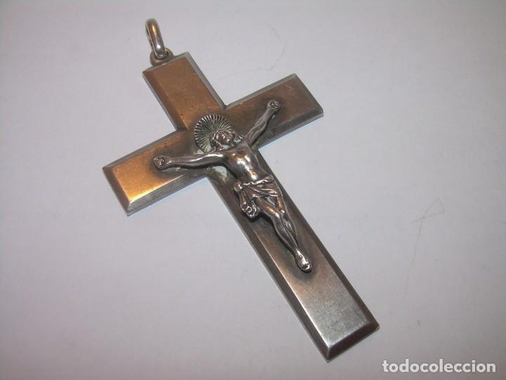 MASRIERA Y CARRERAS....ANTIGUA Y PRECIOSA CRUZ DE PLATA MACIZA..CON CONTRASTE (Antigüedades - Religiosas - Cruces Antiguas)