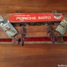 Antigüedades: PERCHERO PONCHE SOTO. Lote 196968886