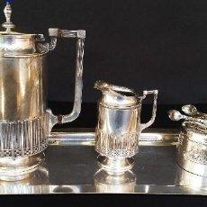 Antigüedades: JUEGO DE CAFÉ JUDGENSTIL, 5 PIEZAS. Lote 196978790