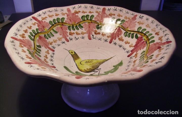 Antigüedades: GRAN Y ROTUNDO FRUTERO CERÁMICA DE MANISES XX - Foto 3 - 196985547