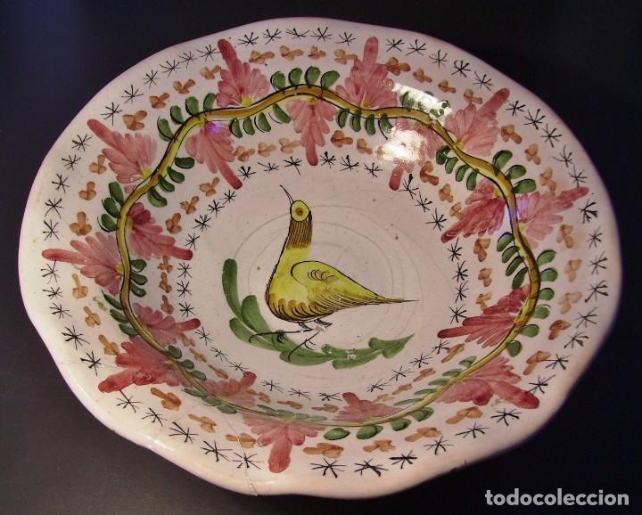 Antigüedades: GRAN Y ROTUNDO FRUTERO CERÁMICA DE MANISES XX - Foto 5 - 196985547